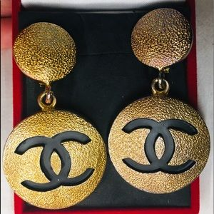100% Authentic Vintage Large Chanel Earrings